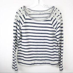 🍁Cato Striped sweat shirt L